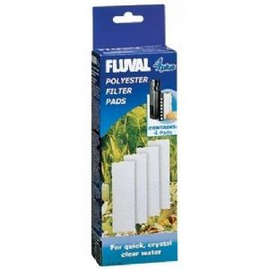 Fluval 4 + Plus Poly Polyester Pad Genuine Product Pack of 4